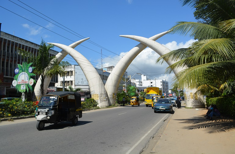 Iconic entrance to Mombasa City